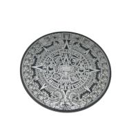 Жетон декоративный, лазерная гравировка и резка. Материал - двухслойный пластик (серебро матовое/черный), толщина 1,6 мм.  Форма, размер и цвет - по индивидуальному заказу.
