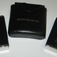 Гравировка кожаных чехлов, используется газовый лазерный станок.