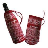 Вязанные чехлы для бутылки шампанского, термотрансферная печать 2+0 с подложкой, категория 2